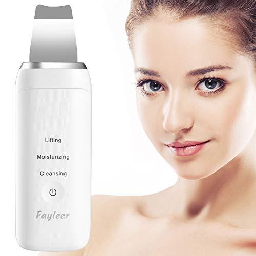 Limpiador facial ultrasonico, Fayleer Peeling Ultrasónico Facial Skin Scrubber de limpieza de la piel facial Eliminación de la espinilla Máquina de depuración de la pal