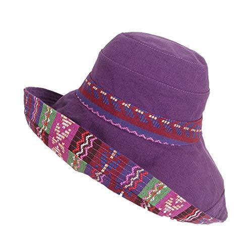 YanyanDz Moda de Dos Lados Plegable Poratble Color Sombrero de Verano Sombrero ()
