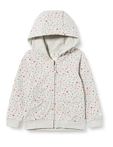 TOM TAILOR Baby-Mädchen Sweatjacke Pullover, lunar Rock Melange|beige, 74