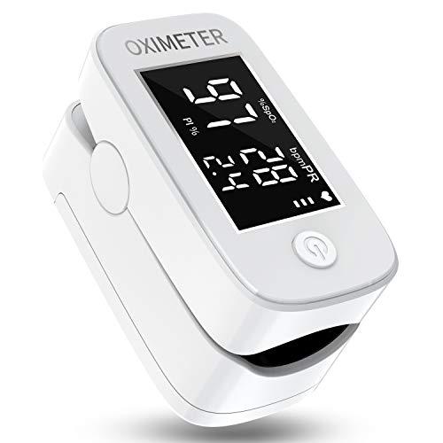 Saturimetro da dito,Pulsossimetro Digitale a dito con Display a LED