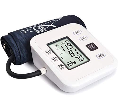 ZHCOM Digitale Oberarm-Blutdruckmessgeräte,Arrhythmie-Anzeige, für präzise Blutdruckmessung und Pulsmessung mit Speicherfunktion