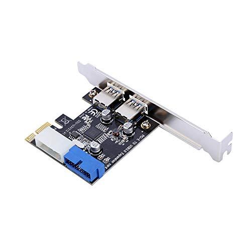 Lazmin USB-Controller-Karten-Stromanschluss, PCI-E auf USB 3.0-Super-Speed-Erweiterungskartenadapter mit vorderer 19PIN-Schnittstelle