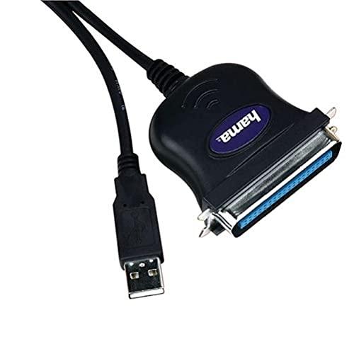 Hama USB Printer Converter USB 1.1 Negro Adaptador de Cable - Adaptador...