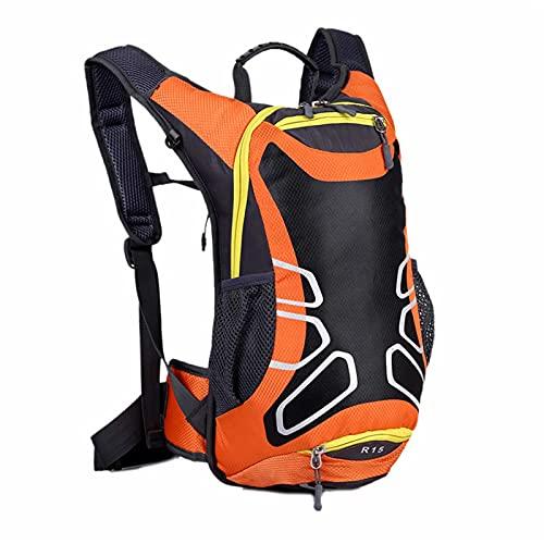 WYZQ 15L Ultraleichter Fahrradrucksack, Leichter und atmungsaktiver Fahrradrucksack mit Basketball-Netzabdeckung Wasserdichter Tagesrucksack zum Radfahren im Freien, Bergsteigen, Sitzrucksäcke