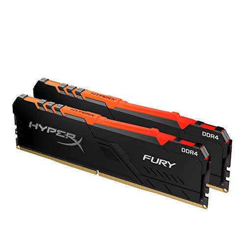 HyperX Fury RGB HX436C18FB4AK2/32 Memoria RAM 32GB Kit*(2x16GB) 3600MHz DDR4 CL18 DIMM