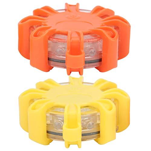Pwshymi Luz de Advertencia estroboscópica Luz de señal estroboscópica 8 Piezas Luz de Barricada de Seguridad ABS y PVC para vehículo