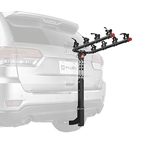Allen Sports unisex-adult Deluxe 4-Bike Hitch Mount Rack, Model 542RR-R Black 2-Inch Receiver