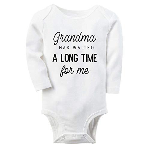 Grandma Gifts Newborn Baby Boy Clothes Funny Baby Onesies Whitelong 0-3Months