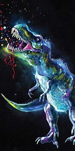 Leina Duschtuch Badetuch Handtuch Strandtuch Dinosaurier 70 x 140cm (Galaxie)