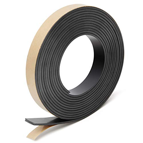 Coitak Flexible Magnetic Tape, 1/2 Inch x 10 Feet Magnetic Strip with Strong Self Adhesive, Anisotropic Magnetic Roll for Craft and DIY Projects, Magnetic Roll Perfect for Fridge