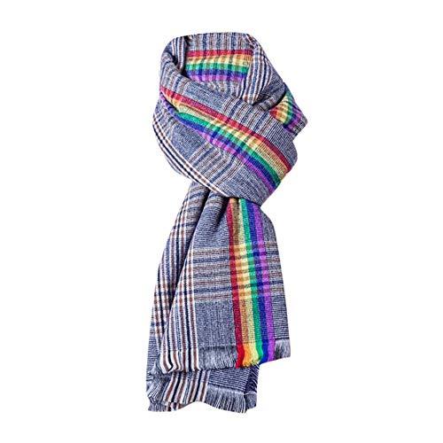 Qiuday Damen Long Scarf Schal Mode Frauen Herbst Plaid Quaste weichen Schal Wrap Wraps Schal Schals Baumwolle Leinen Floral Wrap Tücher Schals Wraps Schal Tücher Schals