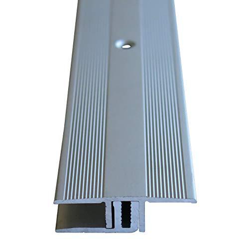 Praktikus 5102271 34mm 7-15 mm Übergangsprofil inkl.Schrauben & Dübel, Silber