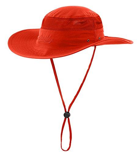 Connectyle Outdoor Mesh Sun Hat Wide Brim Sun Protection Hat Summer Fishing Hunting Hiking Gardenig Hat Orange