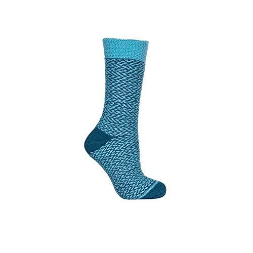 Trespass Unisex Thermski-Socken mit besonders dickem Frotteefutter (35-43 EU) (Aquablau mit Muster)