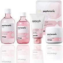 SNP PREP - Peptaronic Complete Korean Skin Care Set - Includes Toner, Cream, Serum, Ampoule Mask (10 Sheets) & Tone-Up Cream - Best Gift Idea for Mom, Girlfriend, Wife, Her, Women