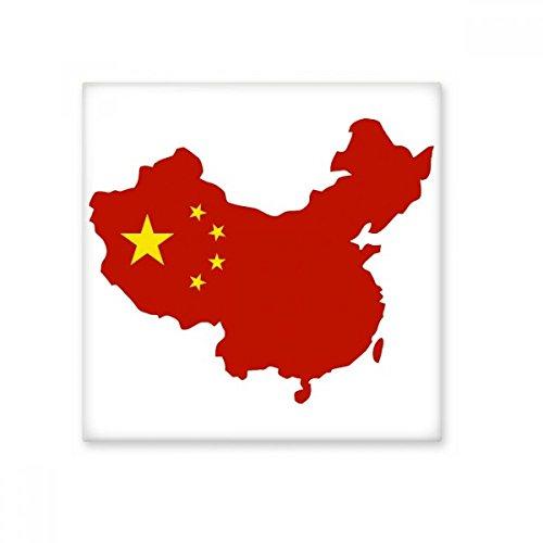 Gemaakt in China Kaart Nationale Vlag Sterren Rood Geel Chinese Keramische Bisque Tegels voor het verfraaien Badkamer Decor Keuken Keramische Tegels Wandtegels L