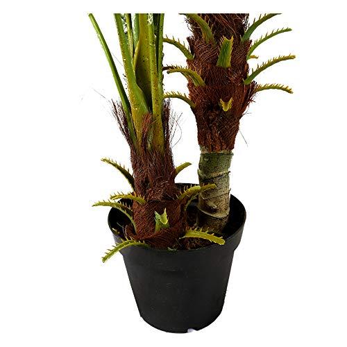 Arnusa Große Künstliche Palme Deluxe 180cm mit 3 Stämmen und 26 Palmenwedel Kunstpflanze Kunstpalme Zimmerpflanze - 4