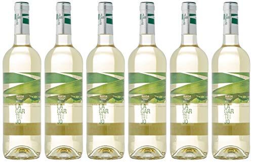 Lagartijo Verdejo Vino Blanco D.O Rueda-6 botellas de 750 ml - Total: 4500 ml