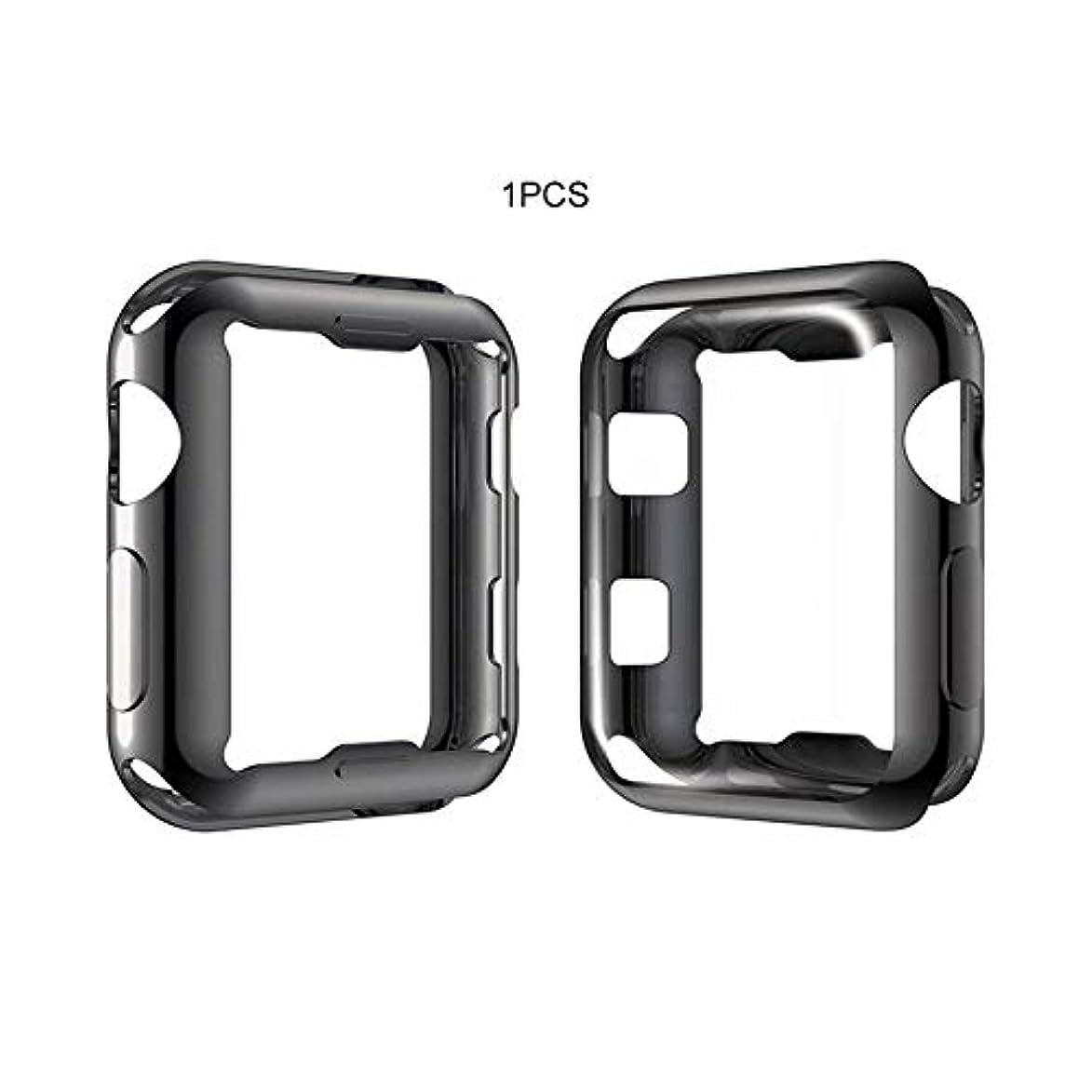ラジエーターおシャッフルApple 4Th Generation Watch Case Tpu 3 Generation Protective Cover Soft Shell Electroplated Tpu Protective Case-Black 42MMに適用可能