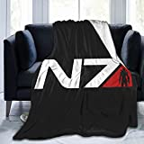 N7 Femshep - Mass Effect Ultra-Soft Throws Blanket Air Conditioning Blanket for All Season Bedding Couch Plush House Warming Decor