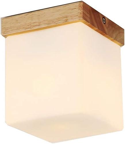 Plafonnier Led Bois Nordique Simple Lustre Moderne Balcon Couloir Couloir Creative Porche E27 Lampes,voitureré 12  15Cm, Lumière Blanche