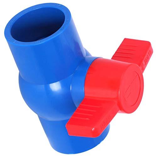 Ventile Slip Full Port roter Griff Hebel U-PVC Kugelhahn 40 mm x 40 mm