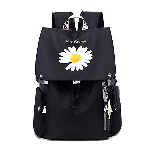 MNBVCX Female Backpack Small Daisy Student Backpack Waterproof Large Capacity Travel Bag 30X17X43Cm