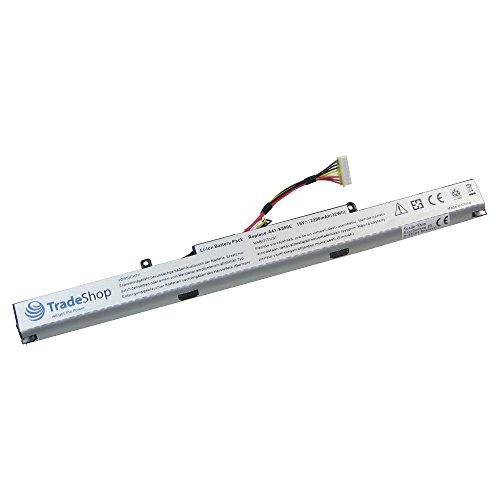 Trade-Shop Hochleistungs Li-Ion Akku 15V / 2200mAh ersetzt Asus A41-X550E für X450 X450E X450J X450JF A450 A450C A450V A450E A450J A450JF F450 F450C F450V F450E F450J F450JF F751M F751M F751LD
