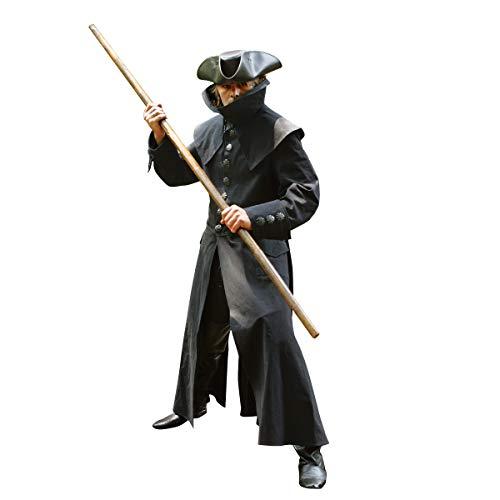 French Highwayman Black Denim Coat (Small/Medium)