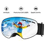 Mpow Lunettes de Ski, Masque de Ski pour Enfants et Adolescents, Masques Snowboard...