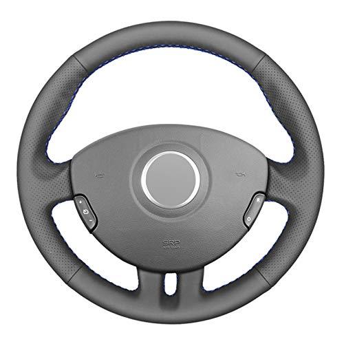 Pangtyus Couvre Volant Couvre Volant Auto en Cuir a Coudre de Bricolage,pour Renault Clio 3 2005-2013 Clio 3 RS 2005-2013