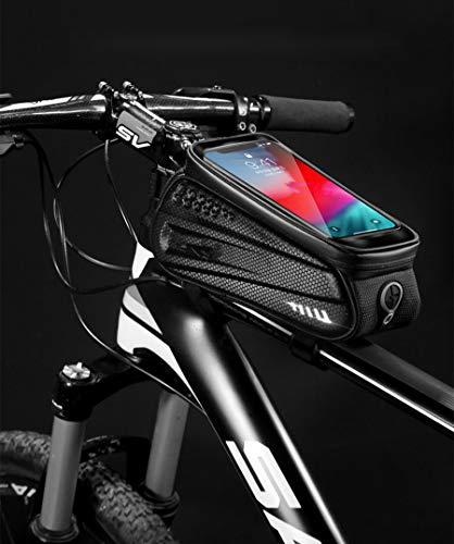 YangQian Vélo Sac 6.5in Sacs De Vélo Avant Frame MTB Bike Bag Imperméable À L'Eau Écran Tactile Top Tube Mobile Phone Bag pour Accessoires Cyclistes