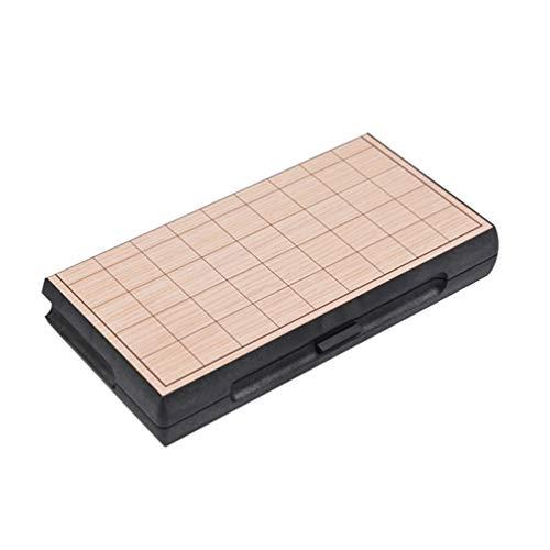 STOBOK Shogi Japanisch Schachspiel Set Magnettafel Xiangqi Traditionelle Jiangqi Japanisch Xiangqi Lernspielzeug Geschenk für Kinder Erwachsene 25X25cm