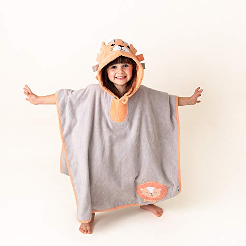 Schlummersack - Poncho de baño suave con capucha en diferentes tamaños y diseños león Talla:4-8 Jahre