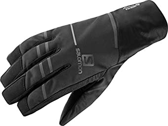 [サロモン] 手袋 RS PRO WS GLOVE U (アールエス プロ ウインドストッパー グローブ) Black/Black L