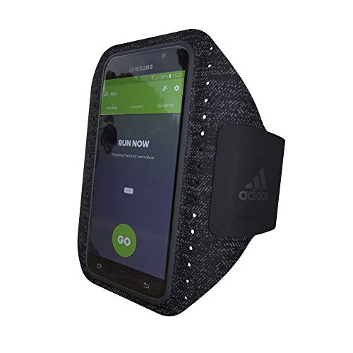 Adidas - Brazalete Deportivo para Galaxy S7 Edge, Color Negro