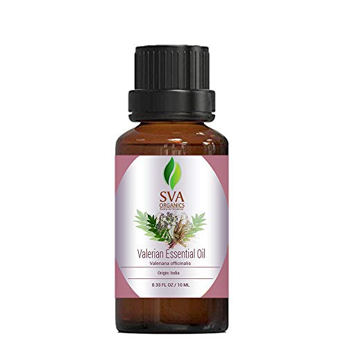 SVA Organics Valerian Oil - 1/3 oz (10 ML) 100% Pure and Natural with Therapeutic Grade| Helps moisturizing Skin, Reduces Mental Stress and Anxiety & More …