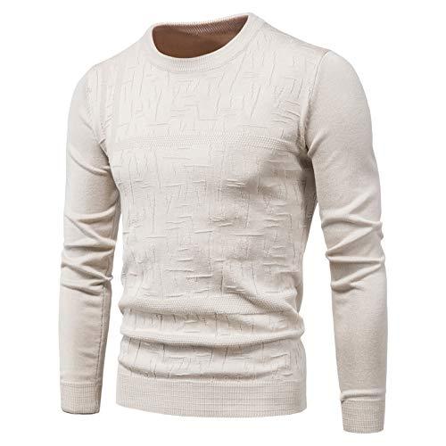 WLZQ Herbst- Und Winter-Herrenpullover, Pullover, Pullover, Rundhalsausschnitt, Einfarbig, Langärmelige Pullover, Bottom-Shirts, Gestrickte Herren-t-Shirts