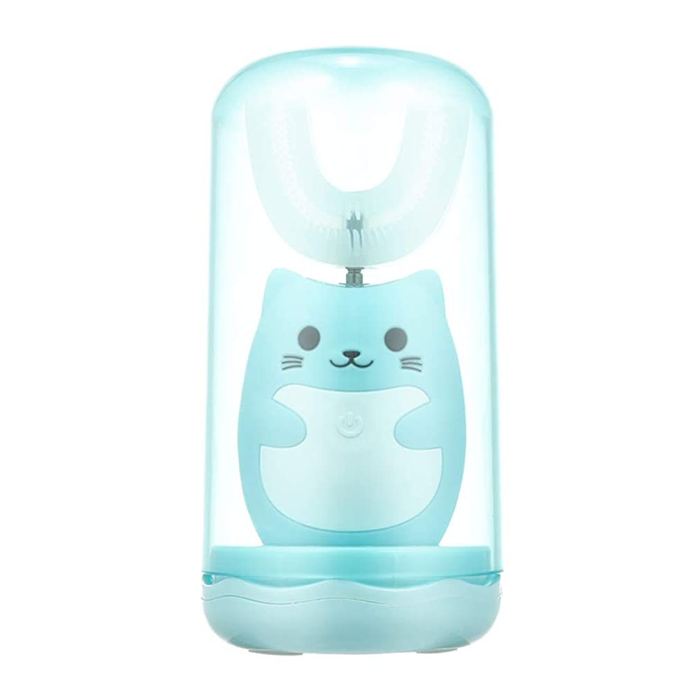 Decdeal 電動歯ブラシ 子供用 U型 充電式 歯ブラシ 3つモード 防水 幼児 子供