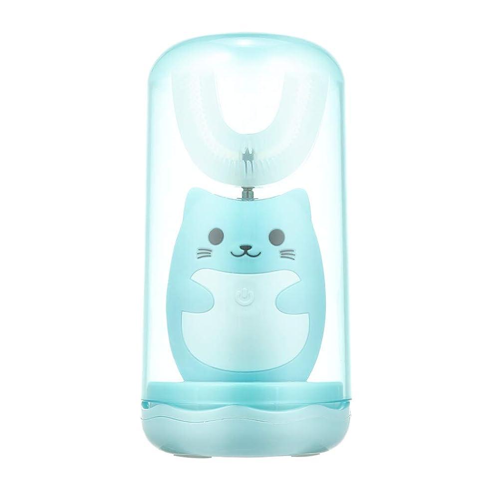 常識タンク耐えるDecdeal 電動歯ブラシ 子供用 U型 充電式 歯ブラシ 3つモード 防水 幼児 子供