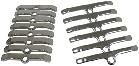 Compatible/Replacement for CHEVY BIG BLOCK VALVE COVER HOLD-DOWN TABS/SPREADER BARS - CHROME