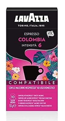 Nespresso Compatible Lavazza Colombia Coffee Capsules (1 Pack of 10)