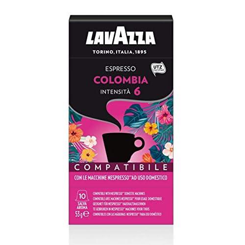 Lavazza 100 Capsule Compatibili Nespresso, Espresso Colombia, 10 Confezioni da 10 Capsule