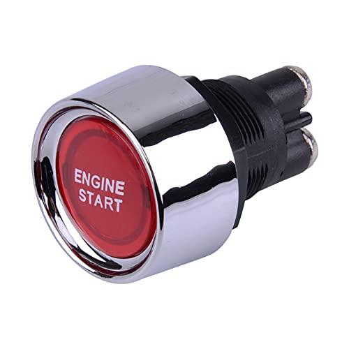 ZHUHUI YUYANGZHI Universal 12V 50A Coche Iluminado Motor Inicio Encendido Interruptor de Encendido pulsador Inicio de Carrera 2 Colores Accesorios Relés (Color : Red)