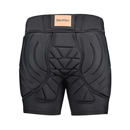 BenKen Men's Women's Professional Hip Protective Padded Shorts Pants