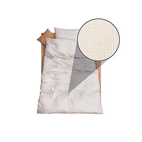 DORIS MEYER Interlock-Jersey Bettwäsche Timo beige Bettbezug einzeln 135x200 cm