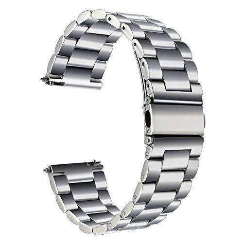 TRUMiRR 22 mm Cinturino dell'Acciaio Inossidabile rapido Cinghia di Uscita per Samsung Galaxy Watch 46mm, Gear S3 Frontier Classic,Samsung Galaxy Watch3 45mm