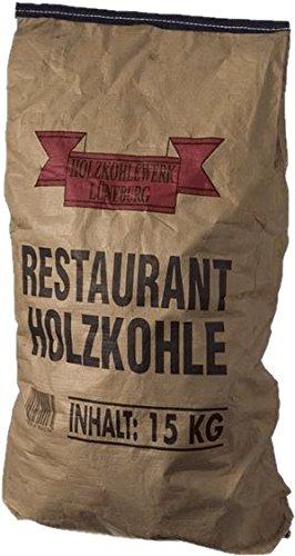 HOLZKOHLE 15KG - Profi-Steakhouse-Grillkohle Quebracho Blanco & Viñal - Restaurant-Holzkohle mit extra langer Brenndauer - ideal für den Einsatz im Smoker