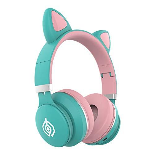 Auriculares Bluetooth Led con Graves Profundos, Auriculares Bluetooth con Micrófono, Cancelación De Ruido Auriculares Inalámbricos Bluetooth Manos Libres En La Oreja Auriculares Micrófono