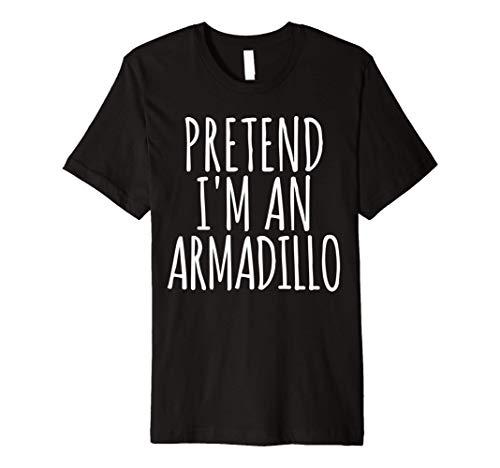 Funny Lazy Halloween Costume T Shirt Pretend Im An Armadillo